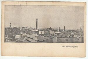 Postcard Poland Lodz Factories Etc. Army Postal Service 1. Wk