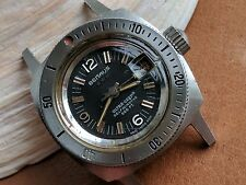 Vintage Women's Benrus Ultra-Deep Diver Watch w/Mint Dial,Deep Patina FOR REPAIR