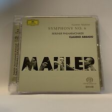 Mahler - Symphony No. 6 Abbado SACD Super Audio CD Hybrid Multichannel DG 2-Disc