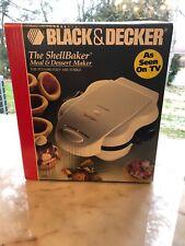 Black & Decker Shell Baker Meal & Dessert Bowl Maker G400 w Scoop + Manual NEW