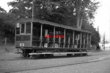 PHOTO  1962 TRAM TRAILER NO 60 AT LAXEY IS UNIQUE AND IS RECOGNISABLE BY ITS TEA