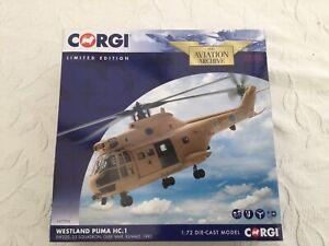 Corgi Puma RAF 33 SQN KUWAIT 1991. AA27004 Brand New