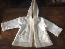 Girandola baby girls thick cream coat size 18 month
