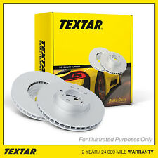 Fits Seat Leon 5F 1.8 TFSI Textar Coated High-Carbon Front Vented Brake Discs