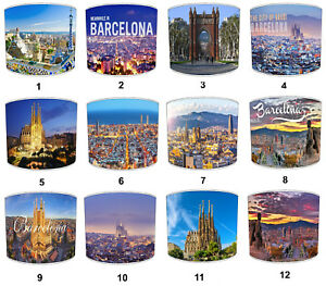 City Of Barcellona Catalonia Paralumi, Ideale Match Catalonia Barcellona Cuscini