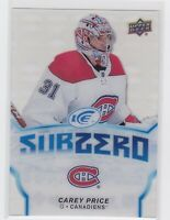 19/20 UD ICE...CAREY PRICE...SUB ZERO...CARD # SZ-3...CANADIENS