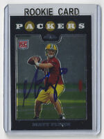 2008 PACKERS Matt Flynn signed Rookie Card #177 Topps Chrome AUTO Autographed RC