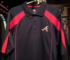 Atlanta Braves Polo Golf Shirt Men's Size Medium - MLB jersey collared $70