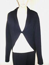 St John Navy Blue Shrug Wool Bolero Jacket XL