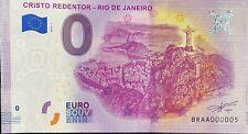 BILLET 0 EURO CRISTO REDENTOR RIO DE JANEIRO  2019-1 TOUT PETIT N° 05