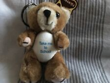 "Teddy bear Keyring with Take me to School logo 3"""