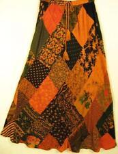912SK~TIENDA HO~Ambers~A-Line Skirt~Hippy BOHO Rayon~Diamond Patchwork~FUN~OS