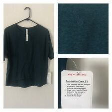 Lululemon Ambleside Crew Shirt HALA Heathered Alberta Lake Size 10 New