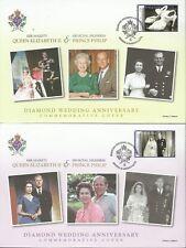 ANTIGUA & BARBUDA 2007 QE11 DIAMOND WEDDING ANNIVERSARY FIRST DAY COVER'S