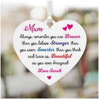 Personalised MUM MUMMY NANNY NANNA Birthday Christmas Heart Sign Plaque Gifts