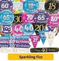 Birthday Party Decorations - AGES 16-100 Balloons, Banners & Bunting (OaktreeUK)