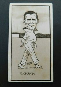 Cigarette Card Sunripe - Caricatures of Famous Cricketers 1926  G Gunn No 34