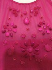 Monsoon Livia  Pink Silk Embellished Dress Size 16-18    Away 24.2-3.3
