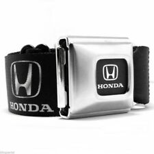 Honda Silver Logo Official Licensed Black Seat Belt Seatbelt Style Buckle Down