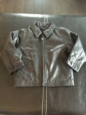 Gap Jacket Leather Black Xxs Unisex Toddler 2/4 $142