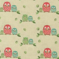 Fat Quarter Owl Watch Cotton Quilting Fabric  50cm x 55cm  Nutex