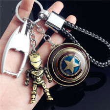 Iron Man Figure Key Chains Captain America Key Ring Marvel Avengers Pendant Gift