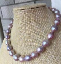 """HUGE 18""""14-16mm south sea genuine baroque lavender pearl neklace"""