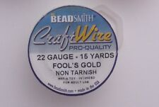 15 YARDS-- 22 GAUGE NON TARNISH   FOOLS GOLD CRAFT WIRE * NEW SPOOL * LOT R 16