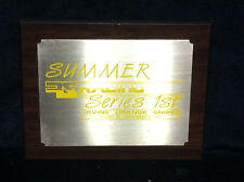 1984 RS RACING SUMMER SERIES 1st PLACE WALL PLAQUE Old School BMX Trophy First