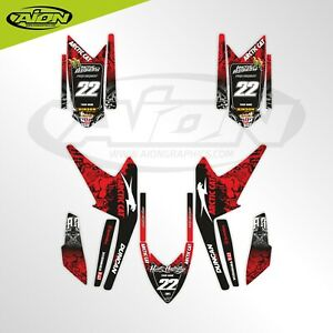 Arctic Cat Graphics kit for a DVX 400 Quad bike Decals kit with custom rider ID