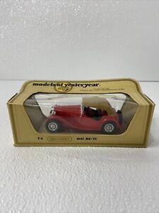 MATCHBOX LESNEY MODELS OF YESTERYEAR 1:35 Y-8 REDDISH BROWN ROOF 1945 MG TC MIB