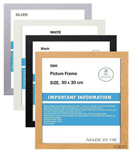SQUARE PICTURE FRAMES, BLACK,WHITE,SILVER,OAK( 30 X 30cm A1 A2 A3 A4 A5 ALL SIZE