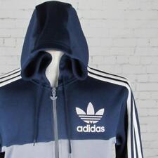 Para hombres De colección Adidas Originals Con Capucha Chándal Top Chaqueta de pista Top Retro Britpop SML