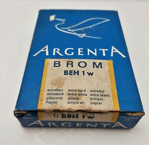 Vintage darkroom photo paper ARGENTA BROM BEH 1 W 7,4x10,5cm 100 sheets Expired