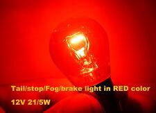 2x Genuine Philips PR21/5W 21W 5W Tail 12495 Stop brake Fog light lamp Red color