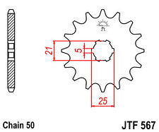 SUZUKI GT750 Kettle / RE5 Wankel 15 TOOTH FRONT SPROCKET ENGINE 567-15 PATTERN