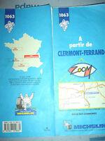 Carte michelin  1063 a partir de clermont ferrand 1993/94 1ere edition *
