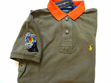 New Ralph Lauren Polo Custom Fit 100% Cotton Olive Indian Patch Summer Shirt S
