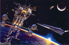Space Lithograph Robert McCall RENDEZVOUS Signed number