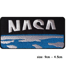 NASA Iron On Patch Sew On Clothes Bag Astronaut Fancy Dress Costume Space Badge