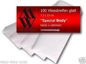 Vliesstreifen glatt 100 Stück Qualität Made in Germany für Wachs Haarentfernung