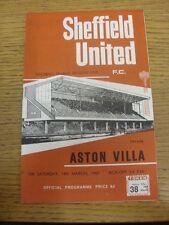 18/03/1967 Sheffield United V ASTON VILLA (Pin Hole). grazie per la visualizzazione di questa MI