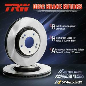 2x Front TRW Disc Brake Rotors for Audi Q7 Quattro 4LB 3.0L Diesel 4.2L 6.0L
