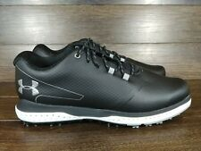 New Men's Size 9 - Under Armour - Fade RST 2 - Golf Shoes - Black 3022263-001