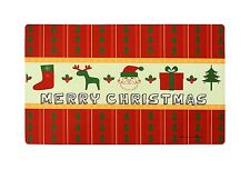 """Home Fashions Merry Christmas Vinyl Back Holiday Painting Doormat 30""""X18"""""""