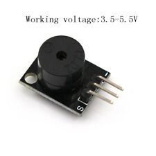 1Pcs Active Buzzer Speaker Module PCB Board 3Pin Black DC 5V for arduino HF