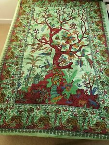 Tree Of Life Ethnic Printed Tapestry Home Decor Twin Bedding Single Wall Hanging