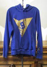 Nike Air Jordan 7 Vii Mens Xs 9 Blue Gold Pullover Hoodie Sweatshirt - 835380