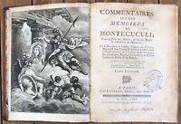 Commentaires sur les Mémoires de Montécuculi Turpin De Crissè 3 vol. Parigi 1769