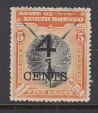 North Borneo 1899 4c on 5c SG112 Mtd Mint